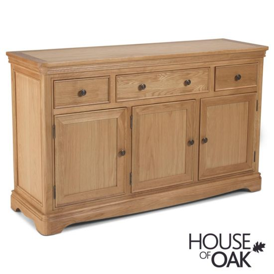 Toulouse Large Sideboard in Natural Oak
