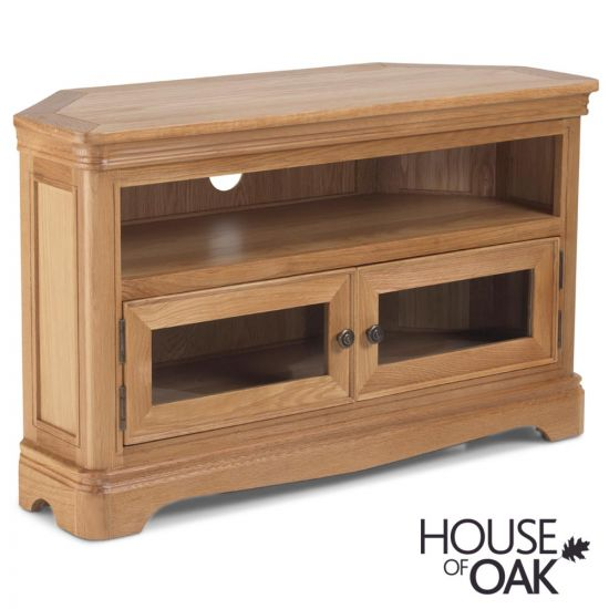 Toulouse Corner TV Cabinet in Natural Oak