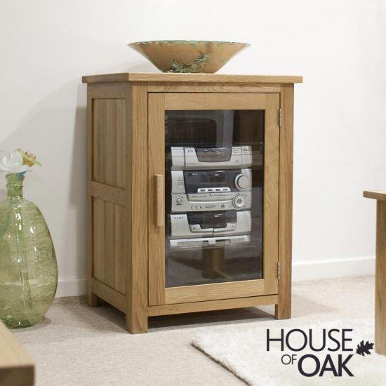 Opus Solid Oak Hi-Fi Cabinet