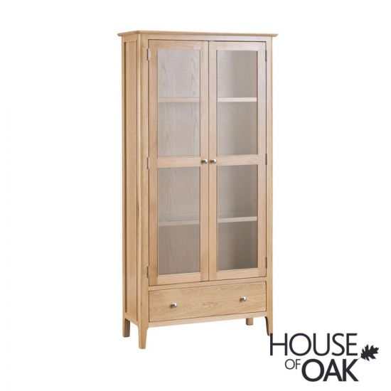 Oslo Oak Display Cabinet With Lights