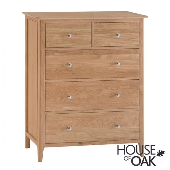 Oslo Oak Jumbo 3+2 Drawer Chest