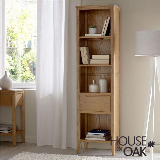 Copenhagen Oak Slim Bookcase