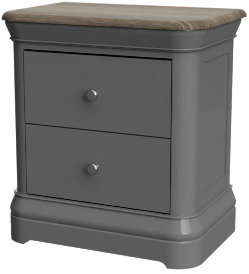 Cumbria Slate 2 Drawer Bedside Cabinet