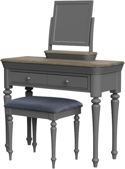 Cumbria Slate Dressing Table with Stool and Mirror