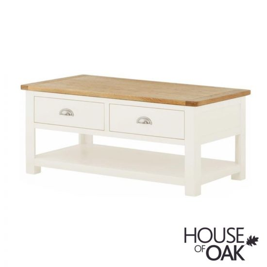 Portman Painted 2 Drawer Coffee Table in White