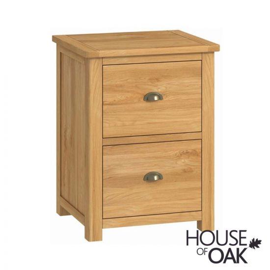 Portman Office 2 Drawer Filing Cabinet in Oak