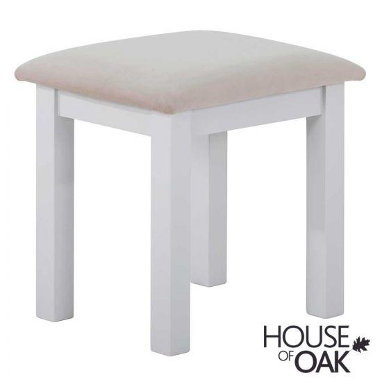 Porto Light Grey Bedroom Stool with Plush Platinum Fabric Seat