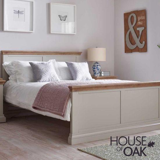 Porto Light Grey 5FT King Size Bed