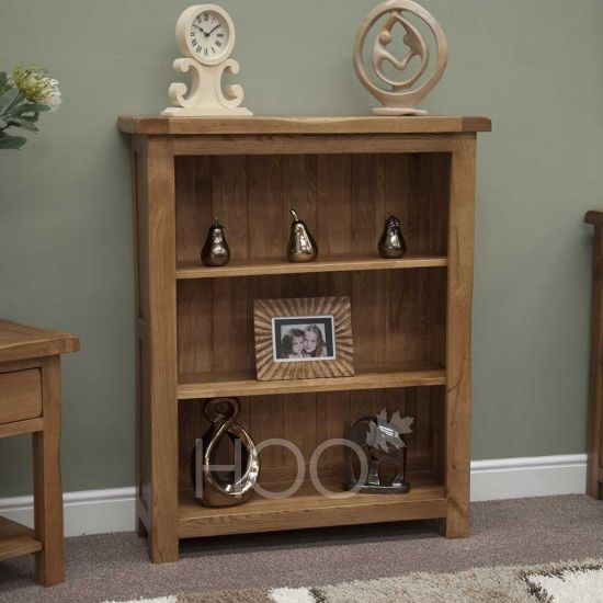 Rustic Solid Oak Small Bookcase