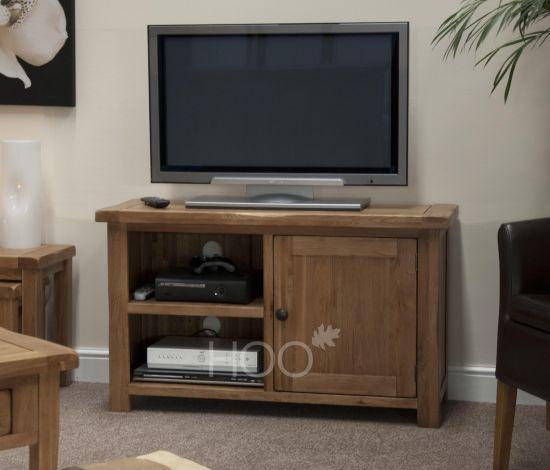 Rustic Solid Oak TV Unit