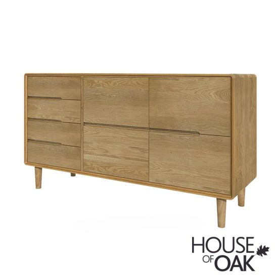 Scandic Oak Wide Chest of Drawers