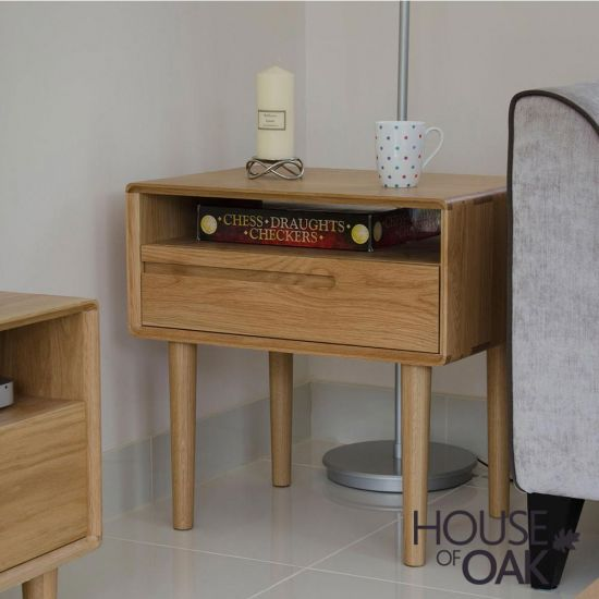 Scandic Oak Lamp Table