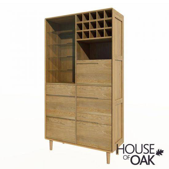 Scandic Oak Drinks Cabinet