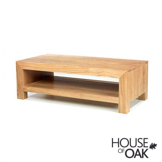 Modena Oak Coffee Table with Shelf