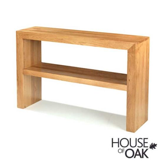 Modena Oak Console Table with Shelf