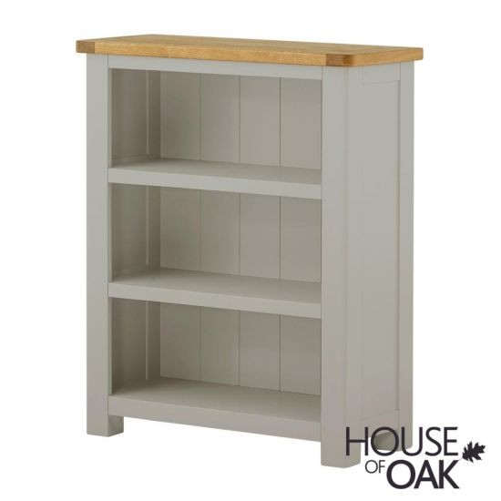 Portman Painted Small Bookcase in Stone Grey