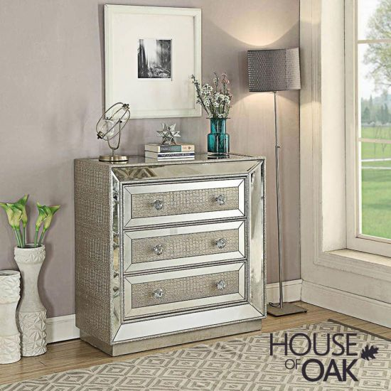 Mayfair Mirrored 3 Drawer Chest