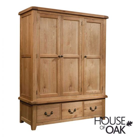 Canterbury Triple Wardrobe With Drawers