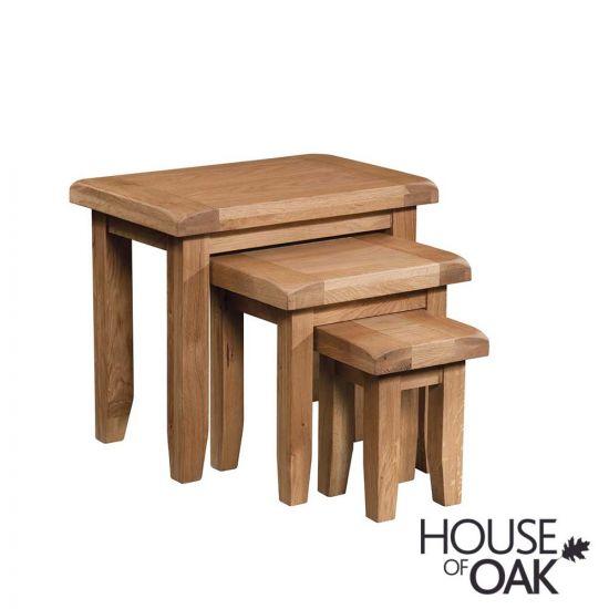 Canterbury Oak Nest of Tables