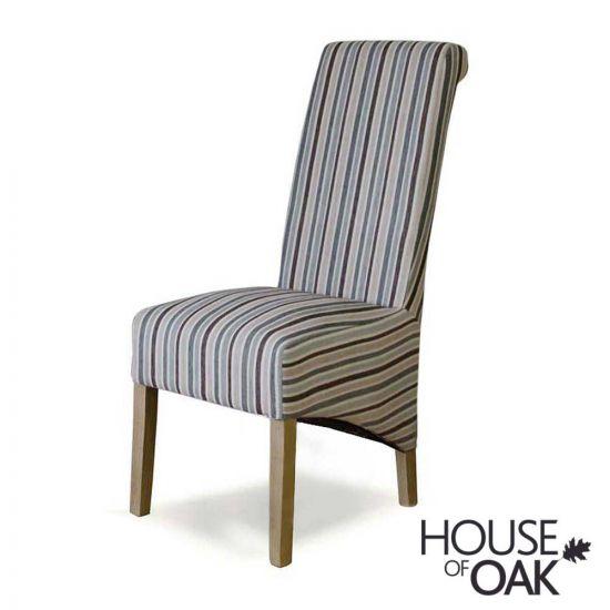 Richmond Chair in Fabric Duck Egg Stripe