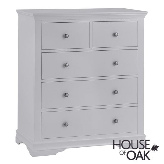 Chantilly Grey 2 Over 3 Drawer Chest