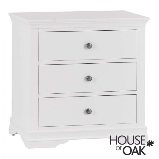 Chantilly White 3 Drawer Chest