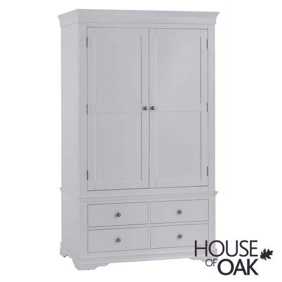 Chantilly Grey 2 Door 4 Drawer Wardrobe