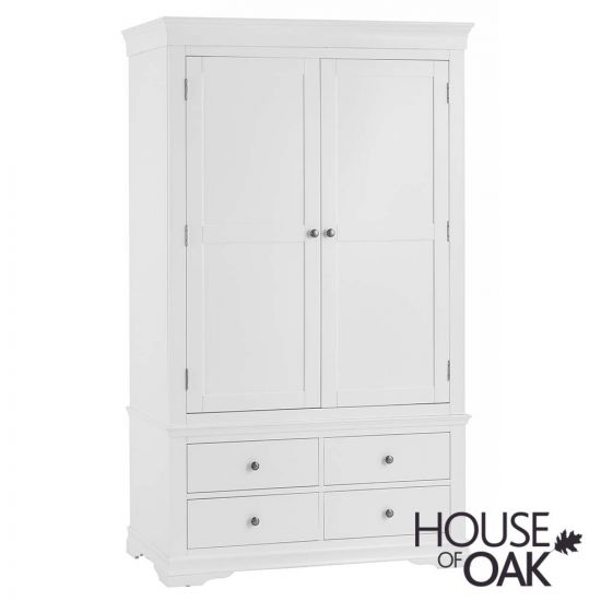 Chantilly White 2 Door 4 Drawer Wardrobe