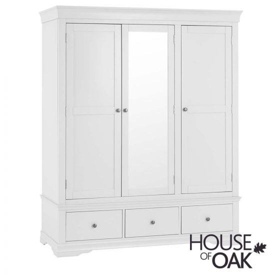 Chantilly White Triple Wardrobe