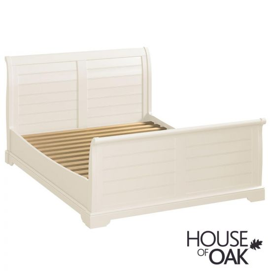 Symphony White 4FT 6'' Double Sleigh Bed