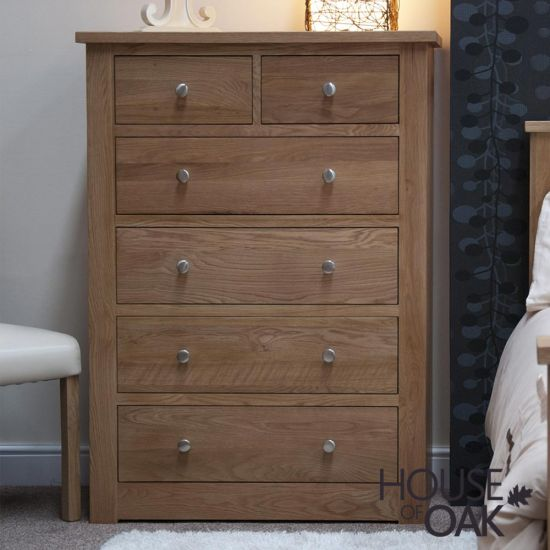 Torino Solid Oak 2 Over 4 Chest of Drawers