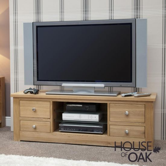 Torino Solid Oak Large Plasma TV Stand