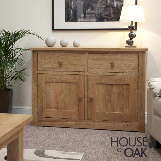 Torino Solid Oak Medium Sideboard