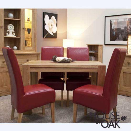 Pandora Solid Oak 125cm x 80cm Table