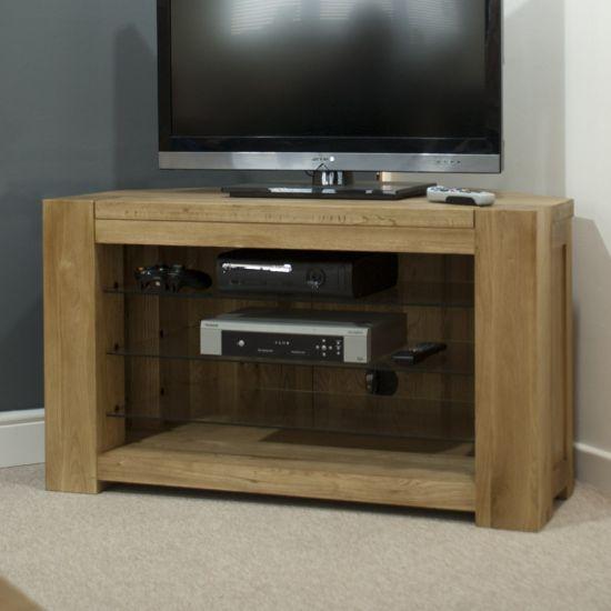 Pandora Solid Oak Corner TV Cabinet