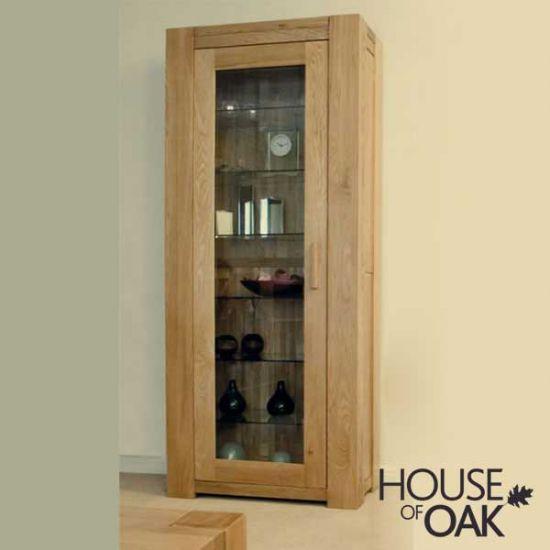 Pandora Solid Oak 1 Door Bookcase