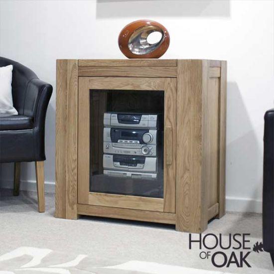 Pandora Solid Oak Hi-Fi Cabinet