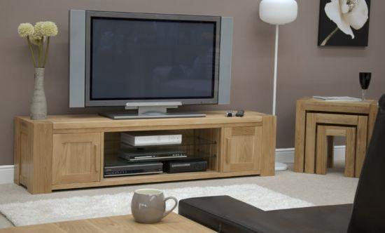 Pandora Solid Oak Large 2 Door Plasma TV Stand