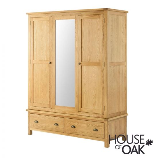 Portman Triple Wardrobe in Oak