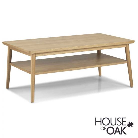 Nordic Oak Coffee Table with Shelf