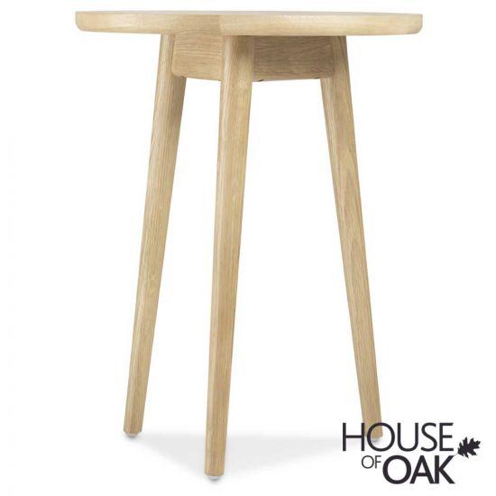 Nordic Oak Circular Lamp Table
