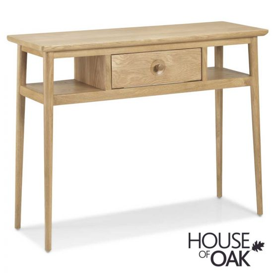 Nordic Oak Console Table with Drawer