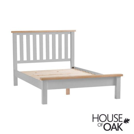 Florence Oak 3FT Single Bed - Grey Painted