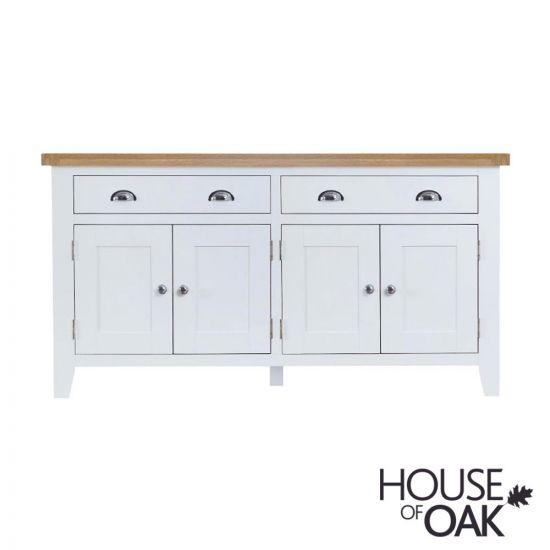 Florence Oak 4 Door Sideboard - White Painted