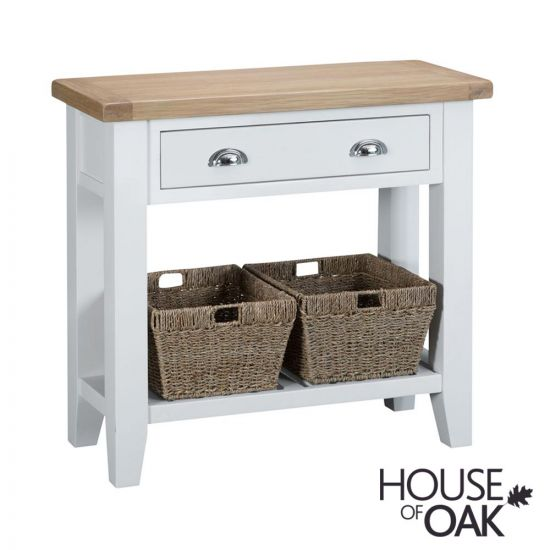 Florence Oak Console Table - White Painted