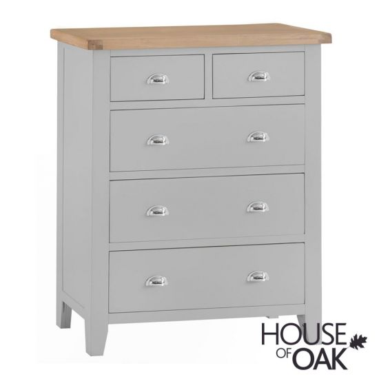 Florence Oak Jumbo 2 Over 3 Chest - Grey Painted