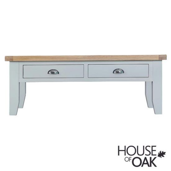 Florence Oak Large Coffee Table - Grey Painted