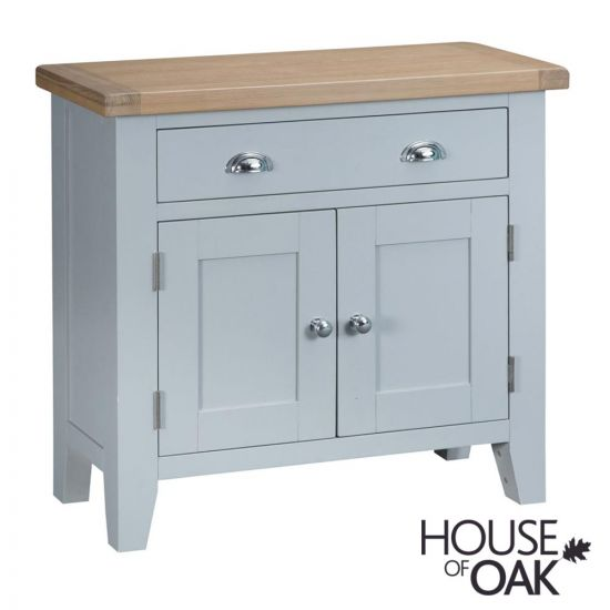 Florence Oak Small Sideboard - Grey Painted