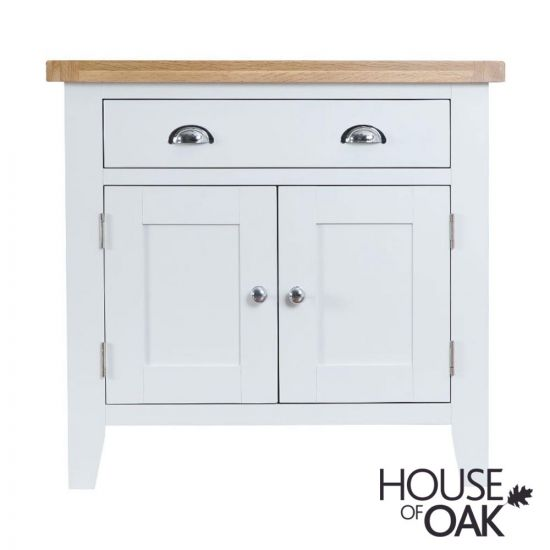 Florence Oak Small Sideboard - White Painted