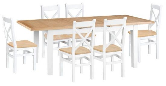 Florence Oak White Dining Set
